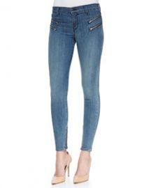 J Brand Jeans Cass Beatnik Moto Zip Skinny Jeans at Neiman Marcus
