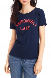 J Crew Fashionably Late Tee  Regular  amp  Plus Size at Nordstrom