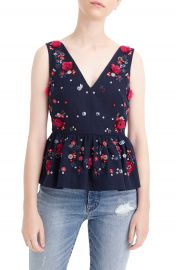 J Crew Hand Embellished Peplum Top at Nordstrom
