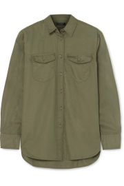 J Crew Oversized Cotton Twill Shirt at Net A Porter