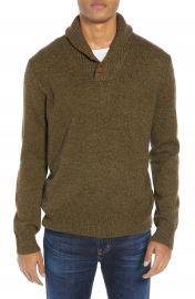J Crew Rugged Merino Wool Blend Shawl Collar Pullover Sweater at Nordstrom