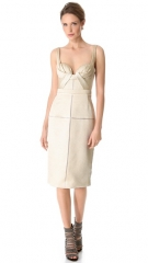 J Mendel Draped Bustier Dress at Shopbop