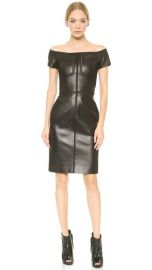 J Mendel Leather Off Shoulder Dress at Shopbop