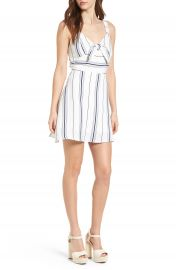 J O A  Tie Front Minidress at Nordstrom