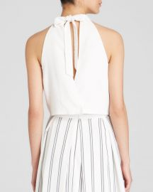 J O A  Top - Tie Back Crop in White at Bloomingdales
