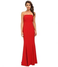 JILL JILL STUART Strapless Crepy Fitted Column Gown Garnet at 6pm