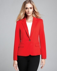JNYWorks A Style System by Jones New York Collection Meredith Ponte Blazer in red at Bloomingdales