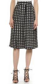 JOA Checkered Midi Skirt at Shopbop