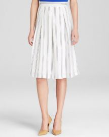 JOA Midi Skirt - Vertical Stripe at Bloomingdales