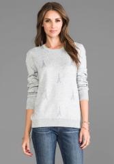 JOIE Valera B Sweater in Light Heather Grey at Revolve