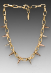 JOOMI LIM Single Row Spike Choker in GoldMixed Spikes at Revolve