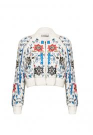 Jack Embroidered Cropped Jacket at Alice & Olivia