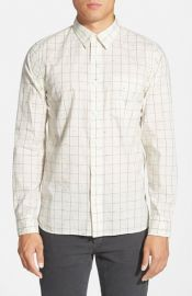 Jack Spade Parrish Trim Fit Windowpane Sport Shirt at Nordstrom