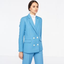 Jacket With Button Fastening at Sandro