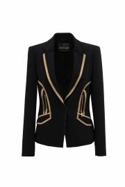 Jacket in Stretch Viscose Cady by Roberto Cavalli at Roberto Cavalli