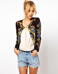 Jacket with floral embroidery at Asos