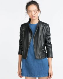 Jacket with zips at Zara