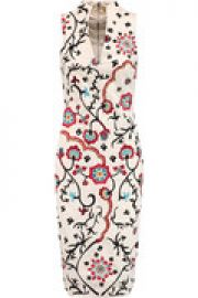 Jacki embroidered cotton-blend canvas dress at The Outnet