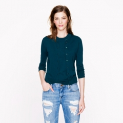 Jackie Cardigan in Landscape Green at J. Crew