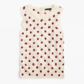 Jackie sweater shell in sequin polka dot at J. Crew