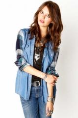 Jackson plaid denim shirt at The Trend Boutique