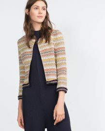 Jacquard Jacket at Zara