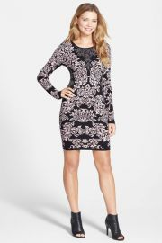 Jacquard Knit Body-Con Dress Nordstrom Exclusive at Nordstrom Rack