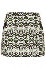 Jacquard Pelmet Skirt at Topshop