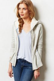 Jacquard Peplum Hoodie at Anthropologie