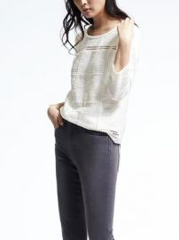 Jacquard Pullover at Banana Republic