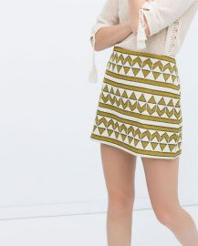 Jacquard Skirt at Zara