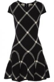 Jacquard-knit mini dress at The Outnet