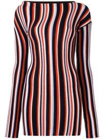 Jacquemus Striped Knitted Mini Dress at Farfetch