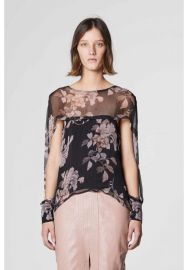 Jagger Cape Sleeve Top in Bohem Floral by Once Was at Once Was