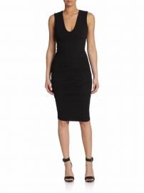 James Perse Sleeveless Ruched Sheath Dress at Saks Off 5th
