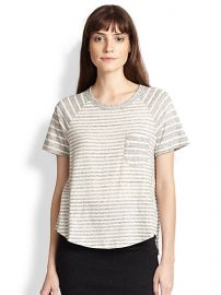 James Perse - Contrast-Striped Cotton Jersey Tee at Saks Fifth Avenue