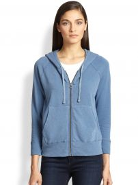 James Perse - Hooded Cotton Zip-Front Sweatshirt at Saks Fifth Avenue