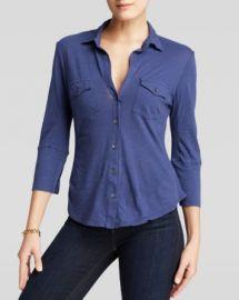James Perse Shirt - Contrast Panel at Bloomingdales