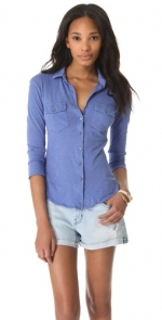 James Perse blue top at Shopbop at Shopbop
