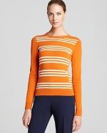 Jane's orange striped sweater at Bloomingdales at Bloomingdales