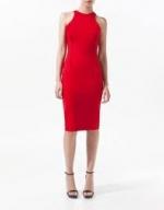 Jane's red Zara dress at Zara