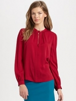 Janes red blouse by DvF at Saks Fifth Avenue