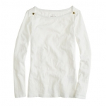 Jane's white boatneck sweater at Jcrew at J. Crew