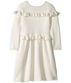 Janie and Jack Double Ruffle Sweater Dress  at Zappos