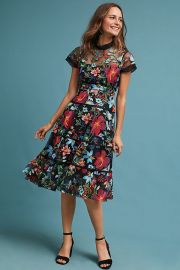 Janine Embroidered Dress by Anthropologie at Anthropologie