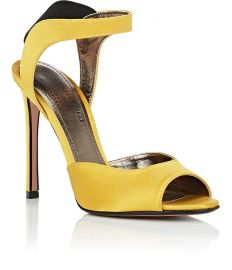 Jaqueline Satin Sandals by Samuele Failli at Barneys