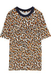 Jasbir leopard-print stretch-knit T-shirt at The Outnet