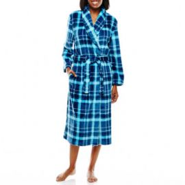 Jasmine Rose Plaid Print Wrap Robe at JC Penney
