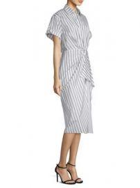 Jason Wu - Dobby Striped Cotton Shirtdress at Saks Fifth Avenue