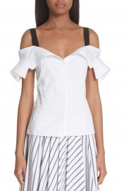 Jason Wu Grosgrain Trim Off the Shoulder Top at Nordstrom